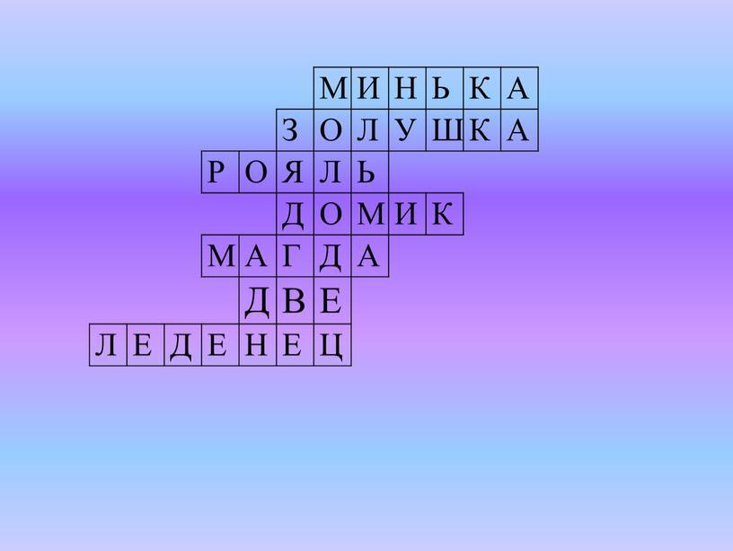 М И Н Ь К А З О Л У Ш Р О Я Л