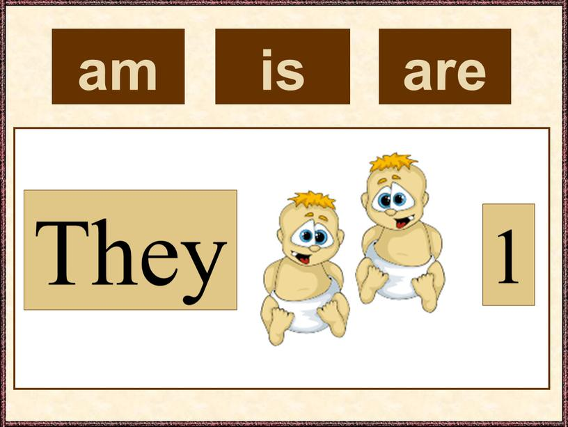 am They 1 is are