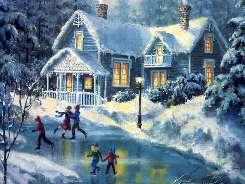 """Презентация по литературному чтению """"Здравствуй, гостья - Зима!"""""""