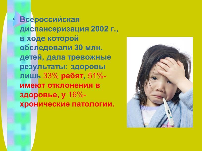 Всероссийская диспансеризация 2002 г