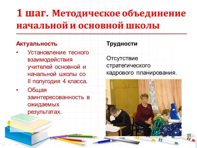 Методическое объединение начальной и основной школы