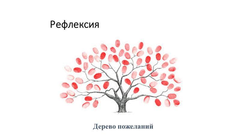 Рефлексия Дерево пожеланий