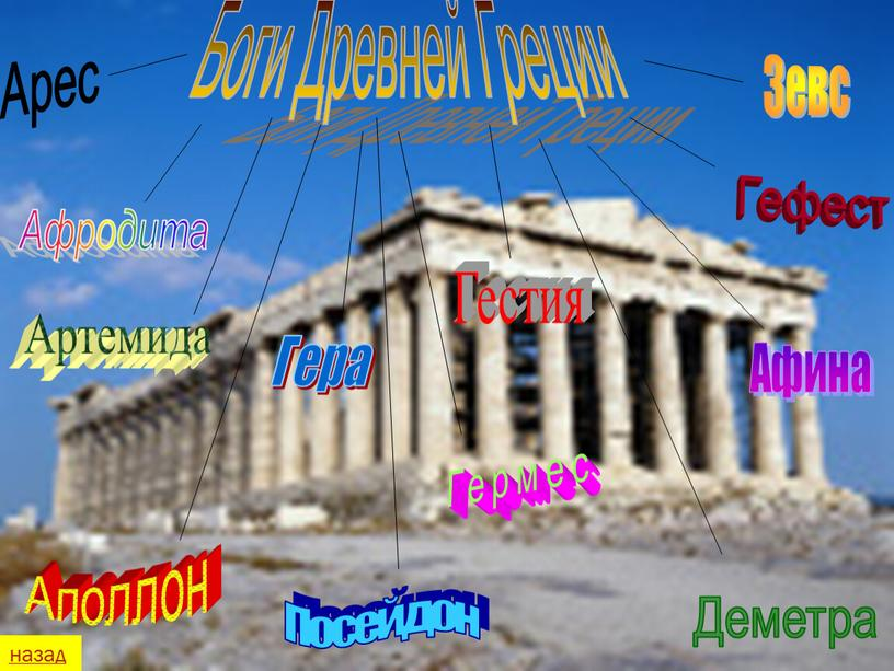 Боги Древней Греции Зевс Аполлон