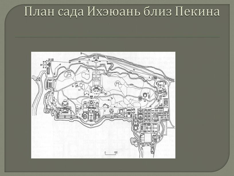 План сада Ихэюань близ Пекина