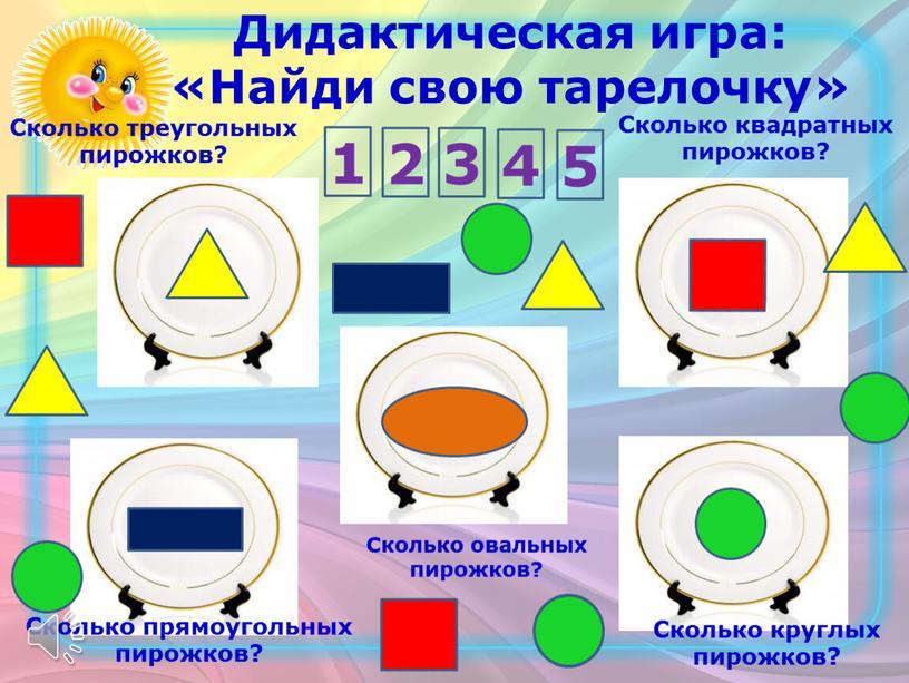 Дидактическая игра: «Найди свою тарелочку»