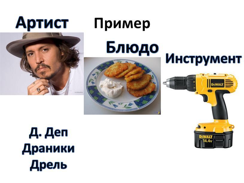Пример Артист Блюдо Инструмент