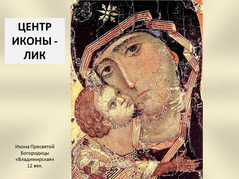 Икона Пресвятой Богородицы «Владимирская» 12 век