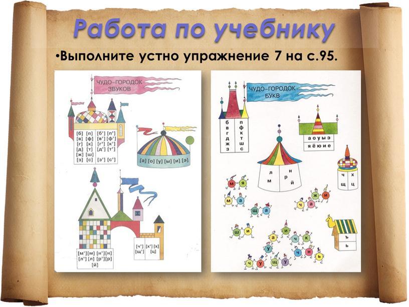 Работа по учебнику Выполните устно упражнение 7 на с