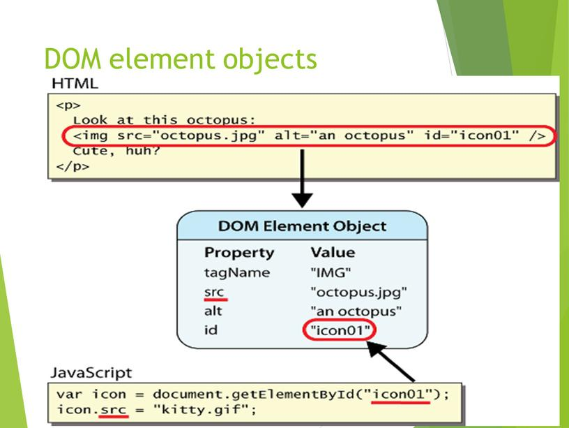 DOM element objects 14