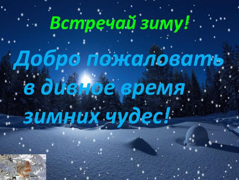 Встречай зиму! Добро пожаловать в дивное время зимних чудес!