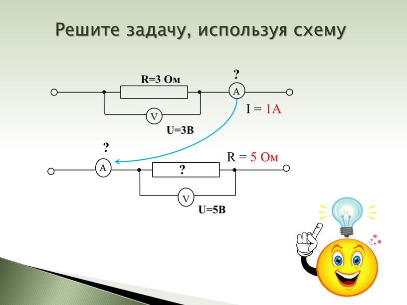 Решите задачу, используя схему