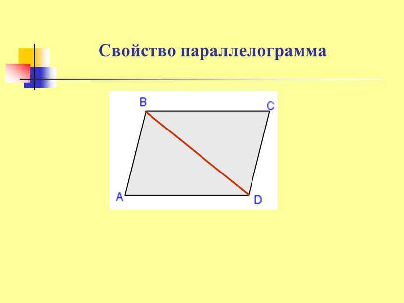 Свойство параллелограмма