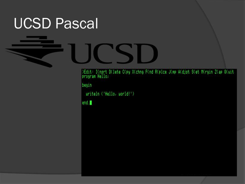 UCSD Pascal