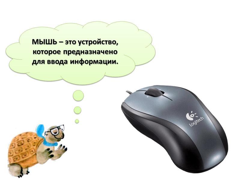 МЫШЬ – это устройство, которое предназначено для ввода информации