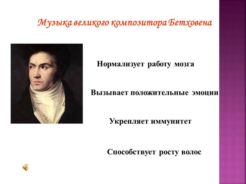Музыка великого композитора Бетховена