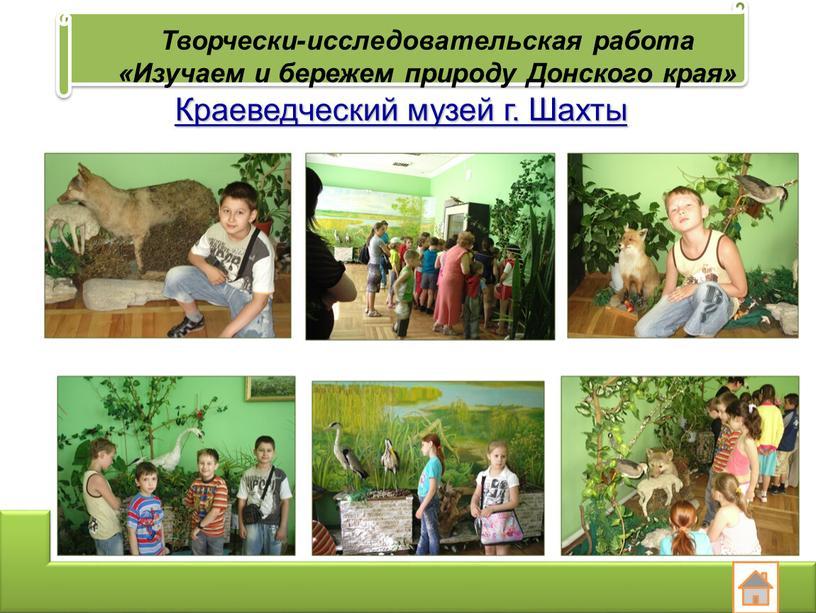 Творчески-исследовательская работа «Изучаем и бережем природу