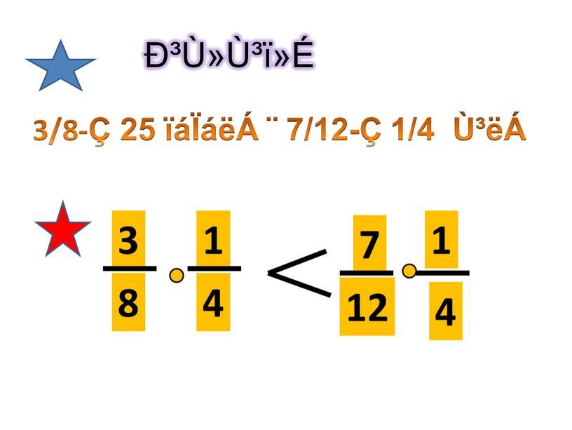 гٻٳï»É 3/8-Ç 25 ïáÏáëÁ ¨ 7/12-Ç 1/4 Ù³ëÁ 3 8 1 4 7 12 4 1