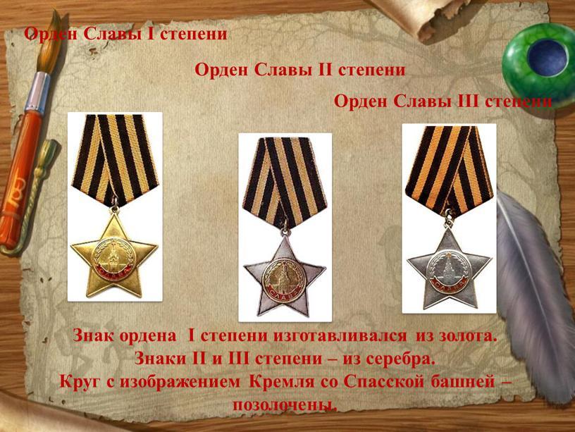Орден Славы I степени Орден Cлавы