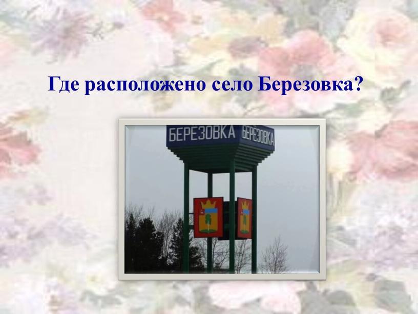 Где расположено село Березовка?