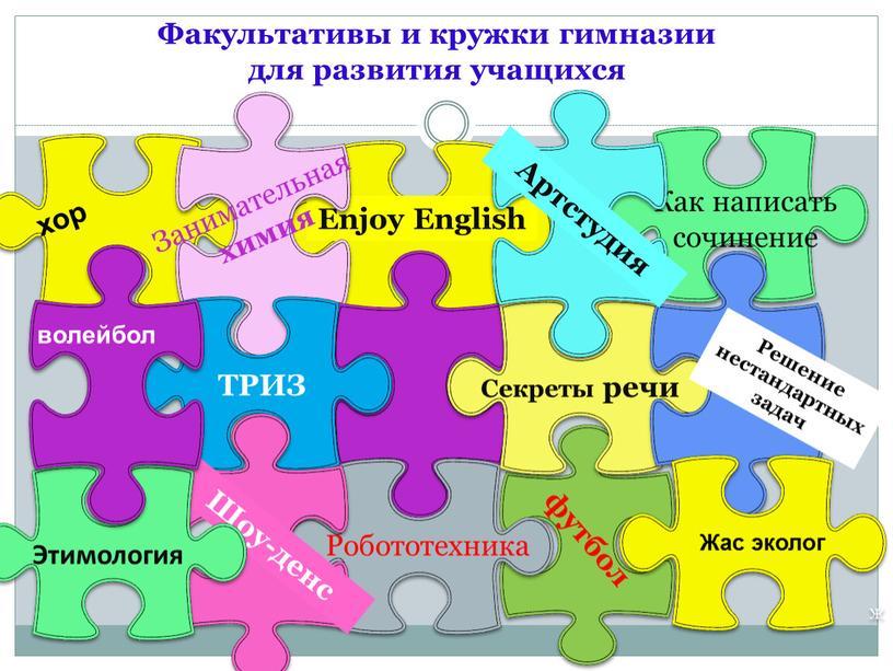 Факультативы и кружки гимназии для развития учащихся
