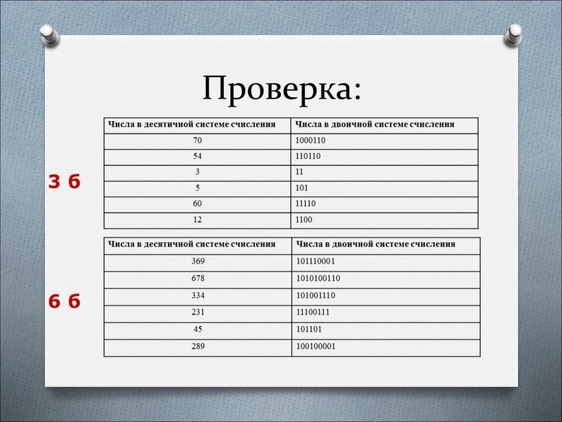 Проверка: Числа в десятичной системе счисления