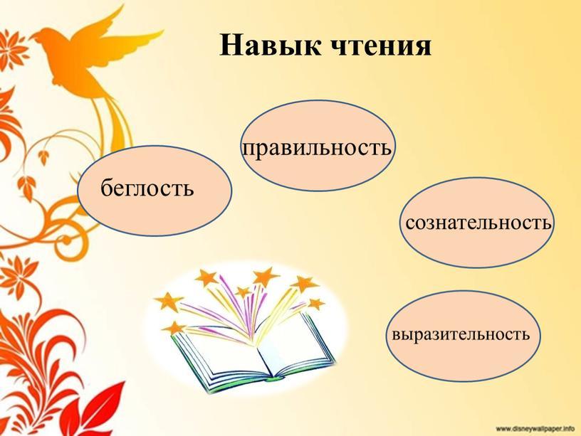 Навык чтения беглость правильность сознательность выразительность