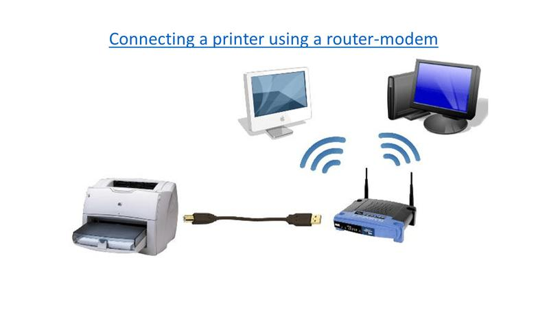 Connecting a printer using a router-modem