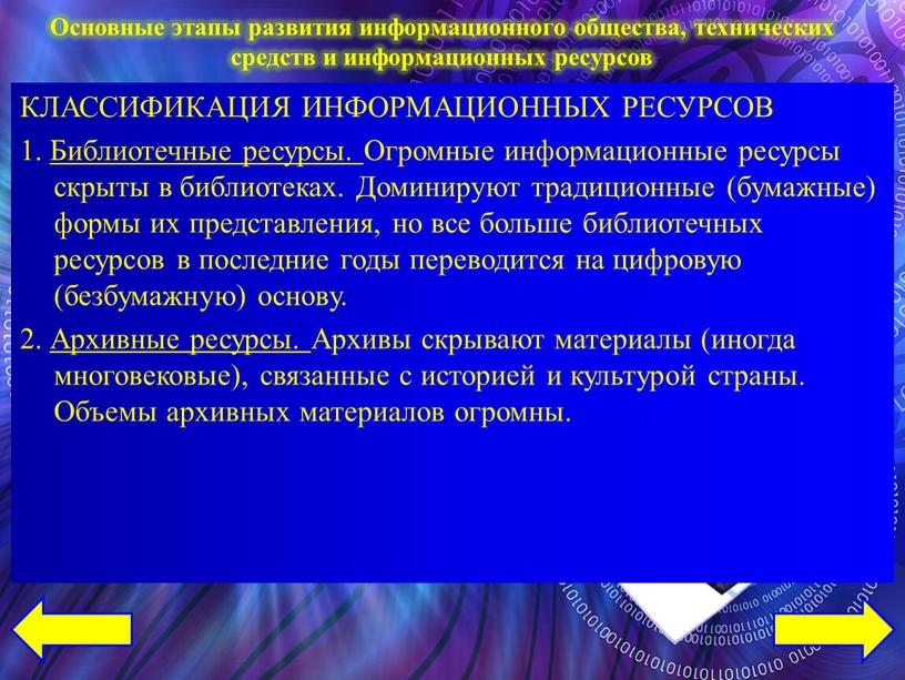 КЛАССИФИКАЦИЯ ИНФОРМАЦИОННЫХ РЕСУРСОВ 1
