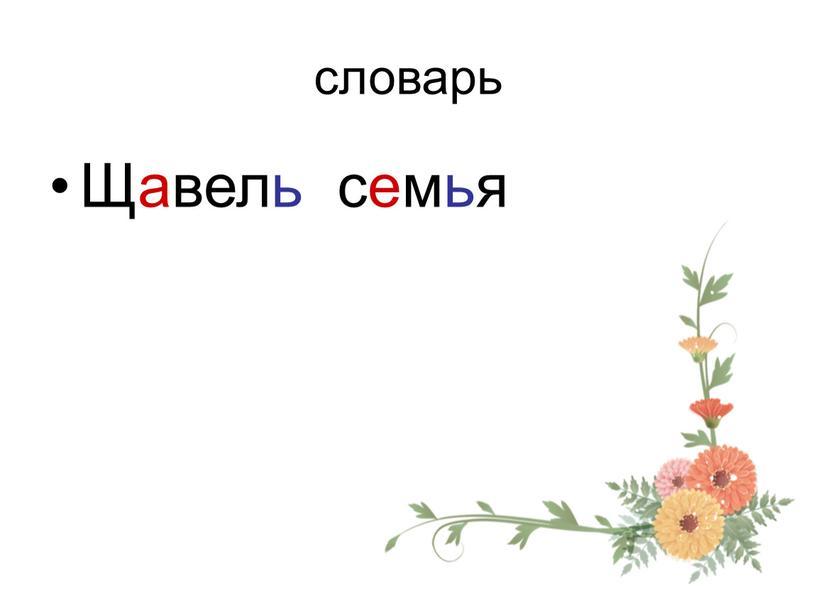 словарь Щавель семья