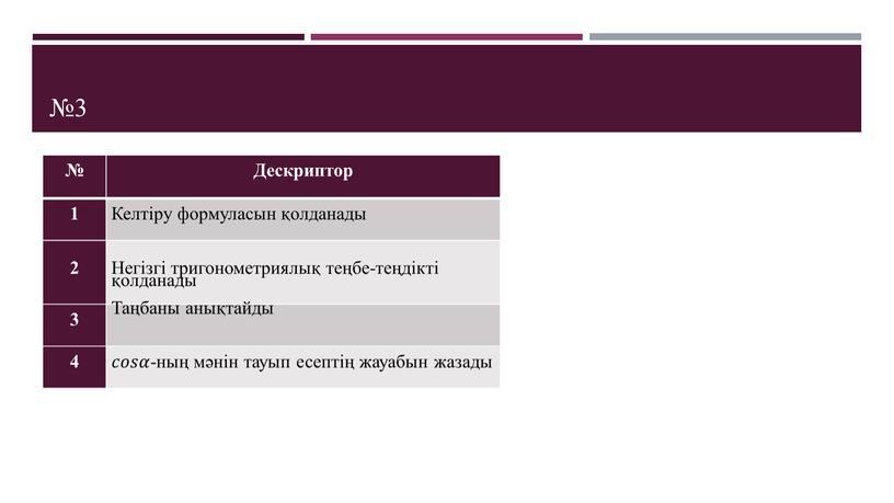 Дескриптор 1 Келтіру формуласын қолданады 2