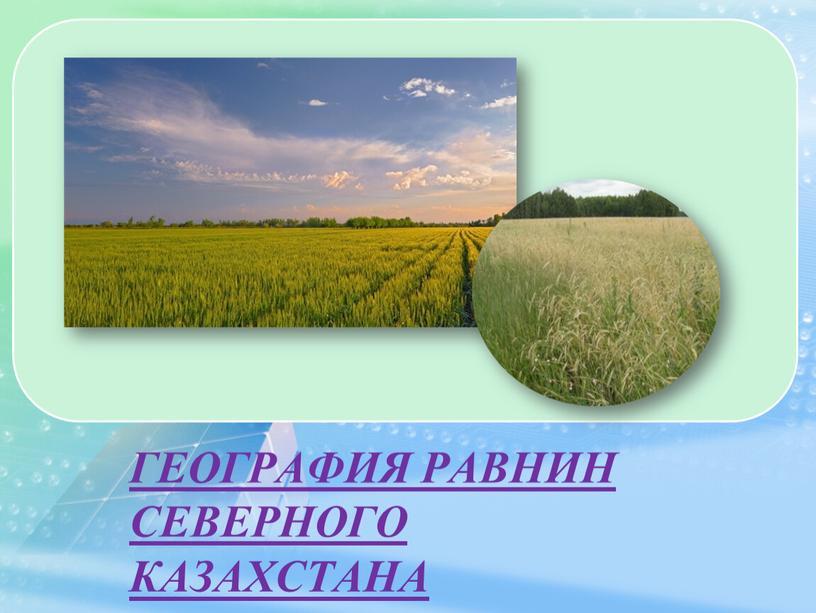 ГЕОГРАФИЯ РАВНИН СЕВЕРНОГО КАЗАХСТАНА