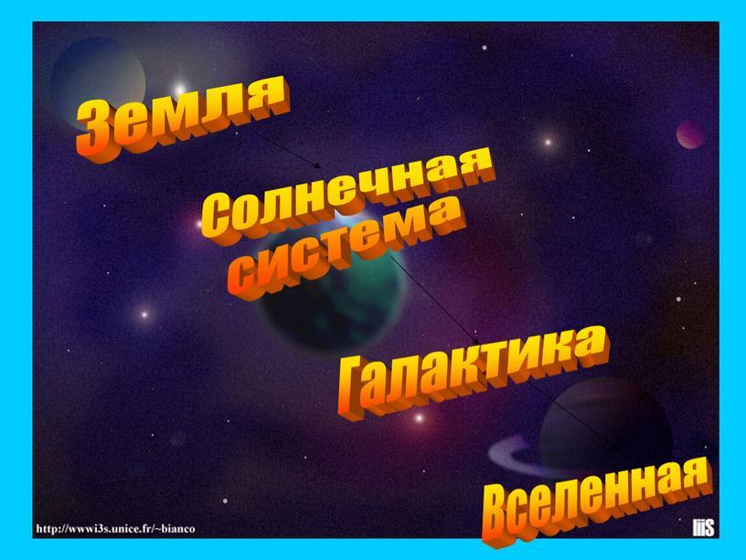 Земля Галактика Солнечная система