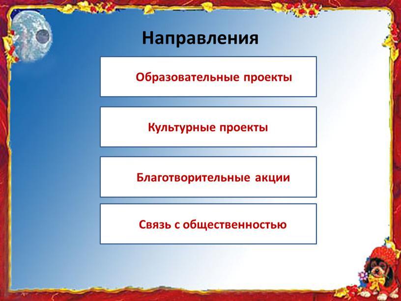 Направления Образовательные проекты