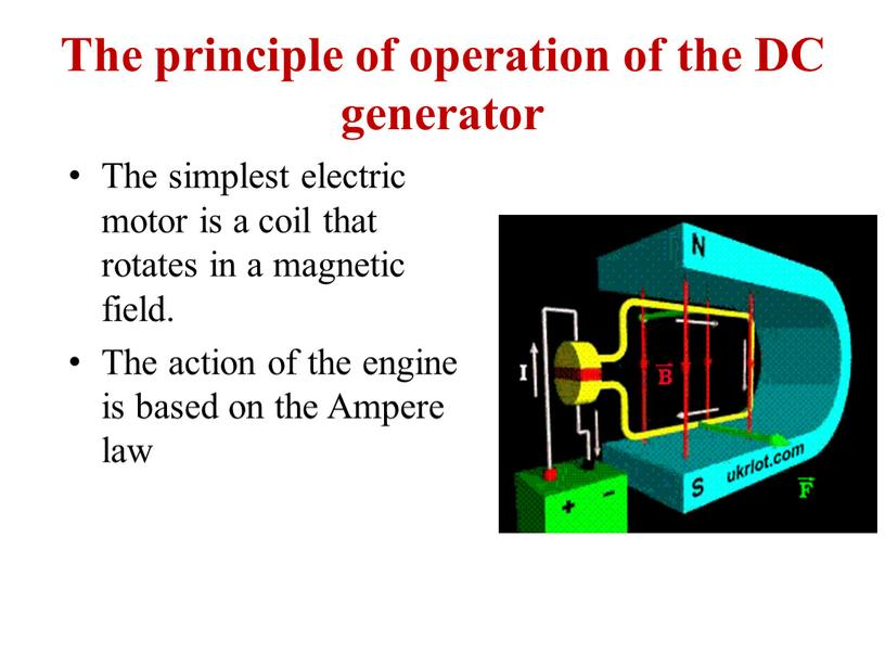 The principle of operation of the