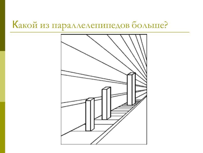 Какой из параллелепипедов больше?