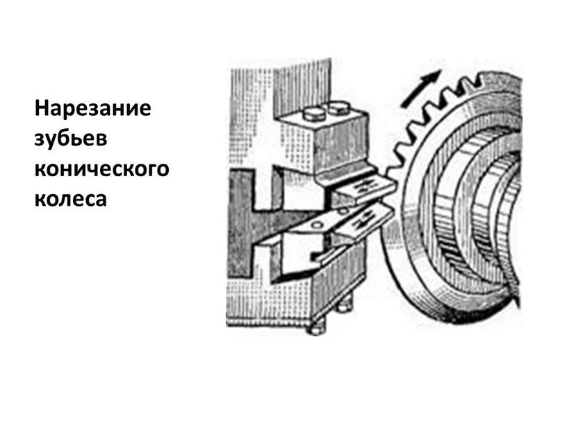 Нарезание зубьев конического колеса