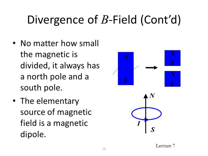 Divergence of B -Field (Cont'd)