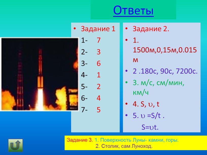 Ответы Задание 1 1- 7 2- 3 3- 6 4- 1 5- 2 6- 4 7- 5