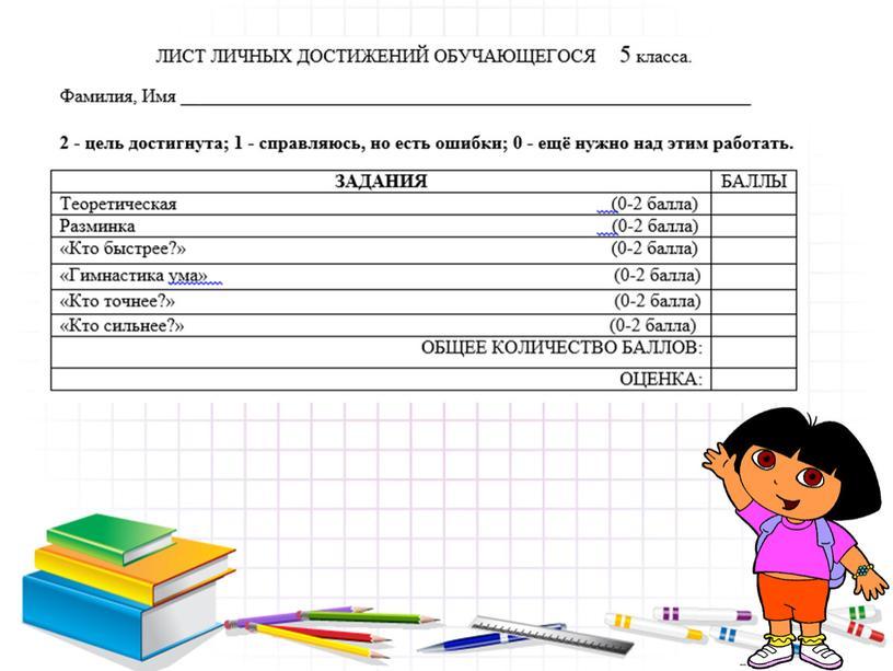 Открытый урок по математике в 5 классе