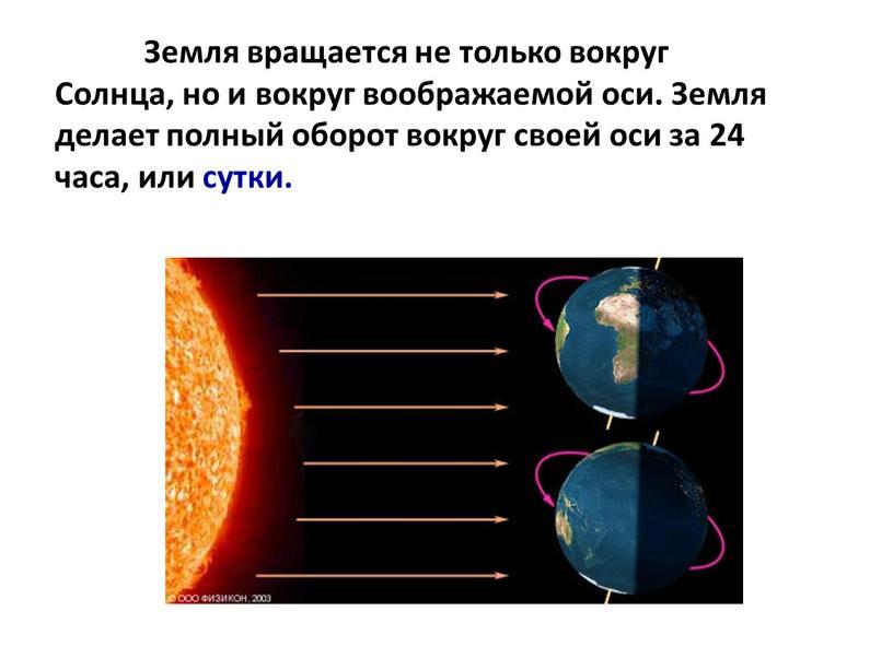 Земля вращается не только вокруг