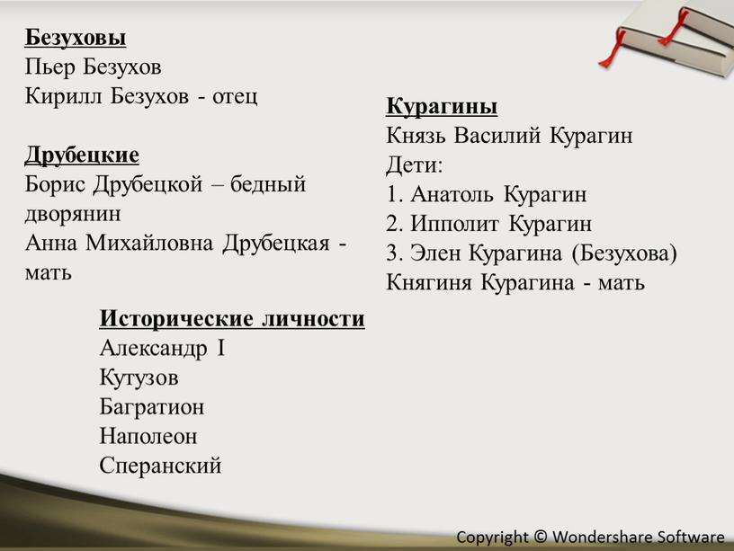 Безуховы Пьер Безухов Кирилл