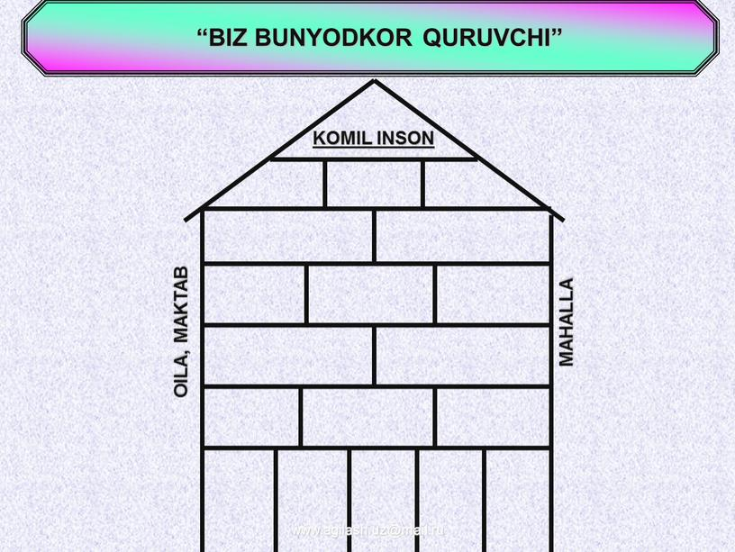 """BIZ BUNYODKOR QURUVCHI"""" KOMIL INSON"""