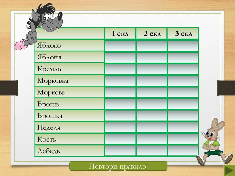 Яблоко + Яблоня + Кремль + Морковка +