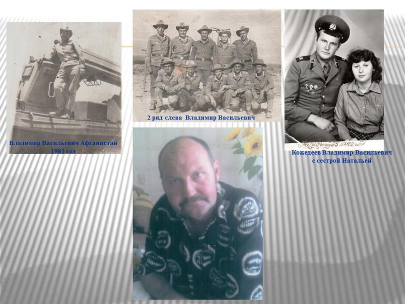 Владимир Васильевич Афганистан 1981 год 2 ряд слева