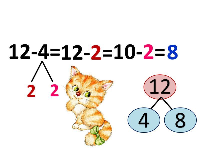 2 2 12-4= 10-2= 12-2= 8 12 4 8