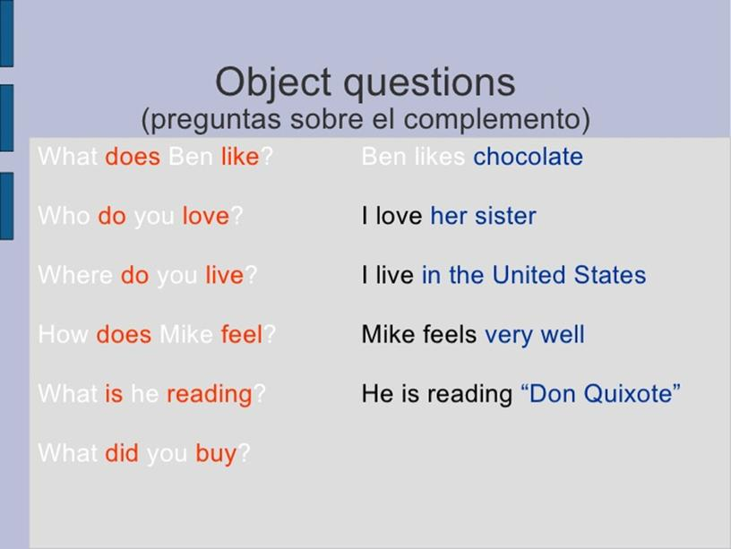 """Grammar lesson. """"Formulating different types of questions"""" 9th grade"""