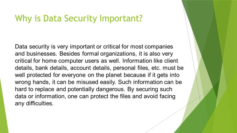 Why is Data Security Important?