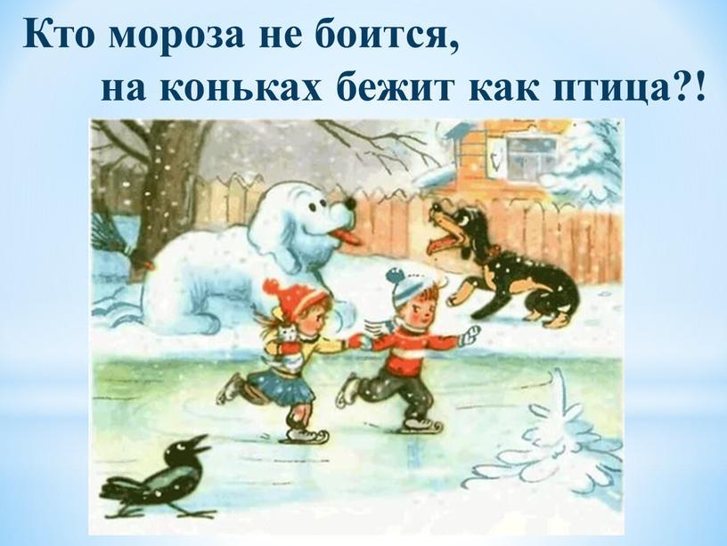 Кто мороза не боится, на коньках бежит как птица?!