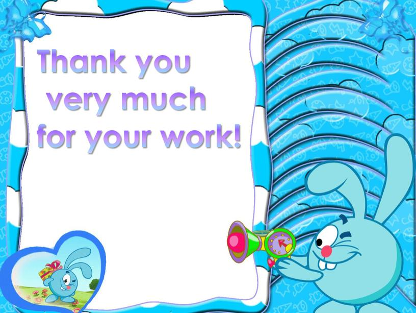 Thank you very much for your work!