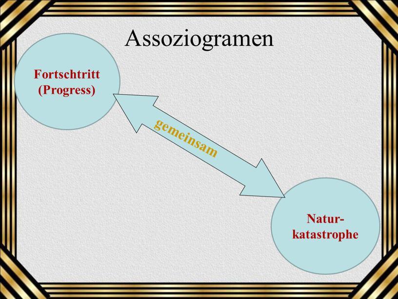 Assoziogramen Fortschtritt (Progress)